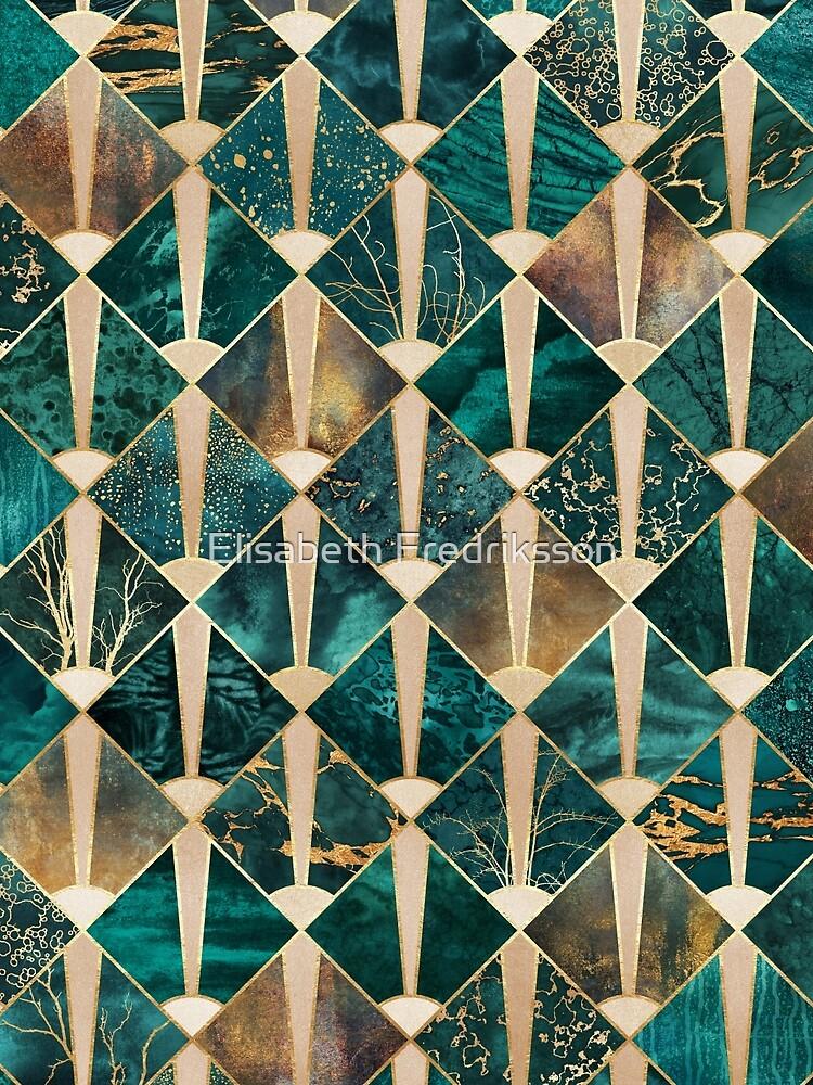 Art Deco Tiles - Ocean by foto-ella