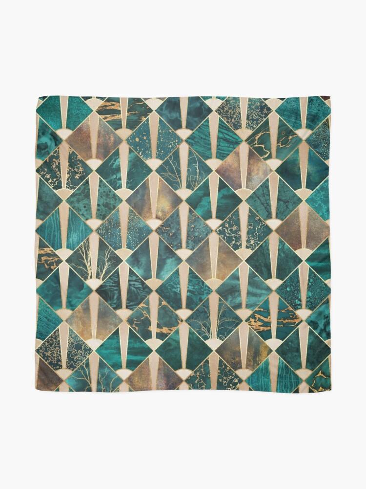 Alternate view of Art Deco Tiles - Ocean Scarf