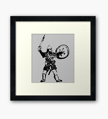 RPG Dwarf Attack Framed Print