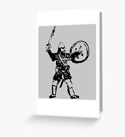 RPG Dwarf Attack Greeting Card