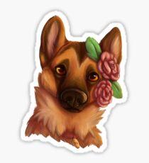 Flower Child GSD Sticker