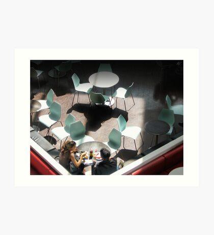 Aqua Chairs Art Print