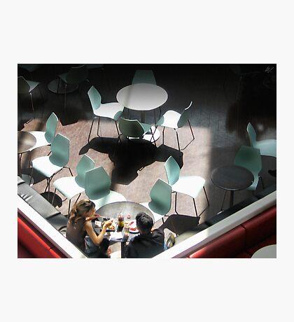 Aqua Chairs Photographic Print