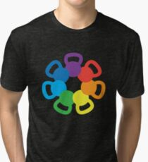 Camiseta de tejido mixto Rainbow Kettlebell