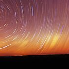 Star trail blue mountain by Alex Lau