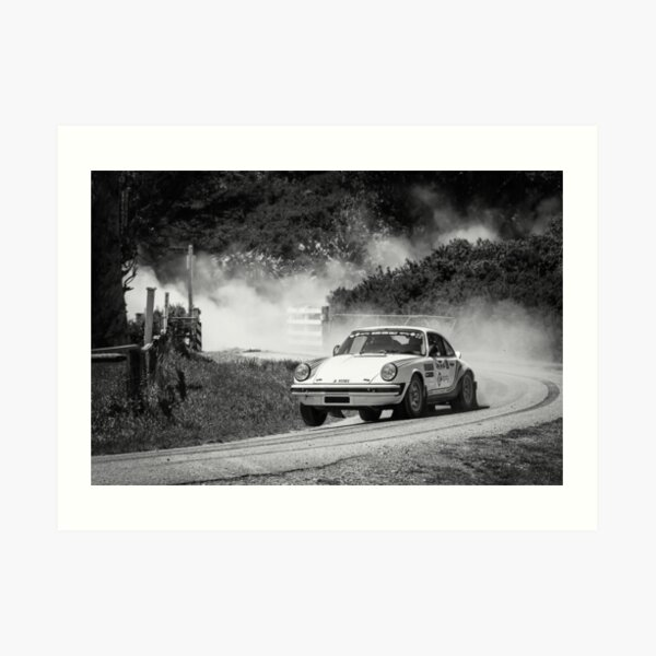Porsche Rally Car Art Print