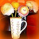 Mug With Ranunculus by Fara