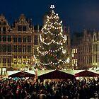Christmas at the Grote Markt - Brussels - Belgium by Arie Koene