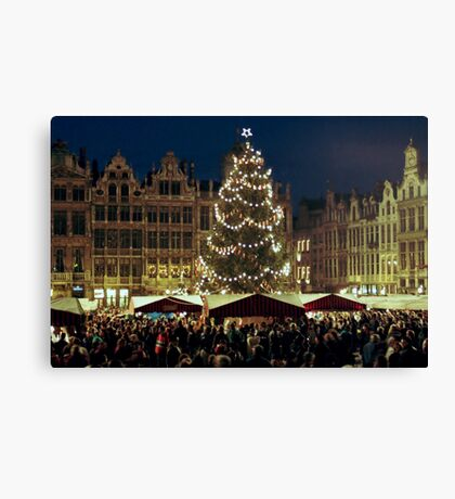 Christmas at the Grote Markt - Brussels - Belgium Canvas Print