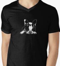 "Boston Terrier ""Precious""  Men's V-Neck T-Shirt"