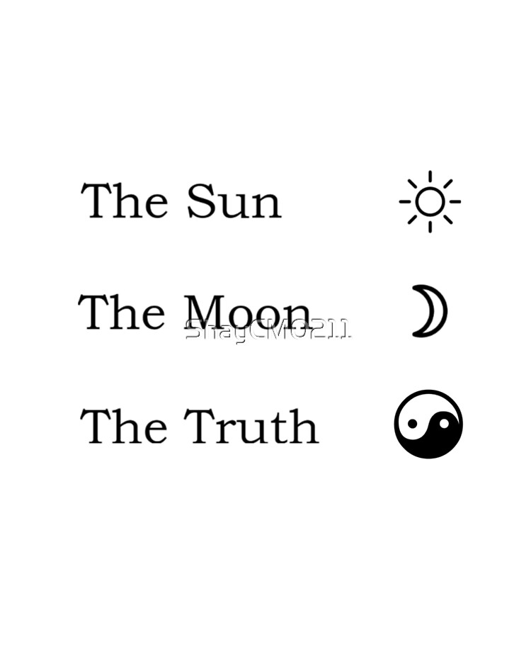 The Sun The Moon The Truth Ipad Case Skin By Shaycm0211 Redbubble