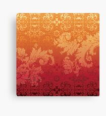 Retro floral wall paper Canvas Print