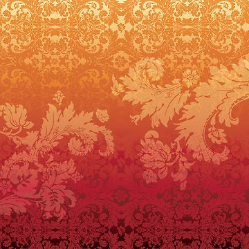 Retro floral wall paper by LaraAllport