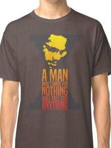 Malcolm X Typography Quotes Classic T-Shirt