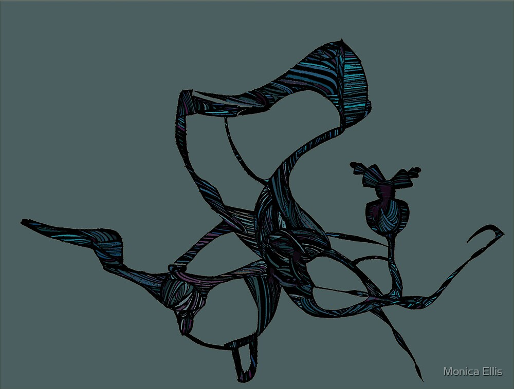 Teal Dragon Fly by Monica Ellis