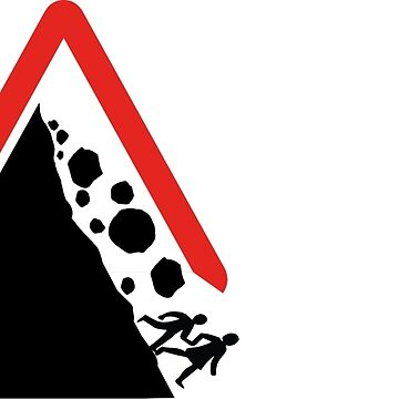Running From Boulders Road Sign by LEGACYS