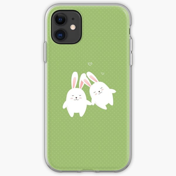 Bunnies in love iPhone Soft Case
