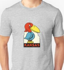 Kansas Jayhawk State Vintage Travel Decal T-Shirt