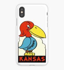 Kansas Jayhawk State Vintage Travel Decal iPhone Case
