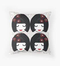 Cherry Blossom Sisters  Throw Pillow