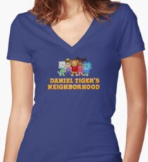 Daniel Tiger and Friends Women's Fitted V-Neck T-Shirt