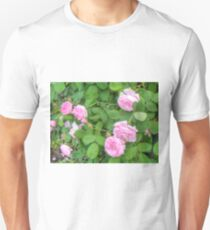Pink Roses in the Garden 5 Unisex T-Shirt