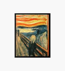 The Scream by Edvard Munch Art Board
