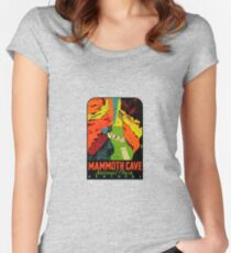 Mammoth Cave National Park Kentucky Vintage Travel Decal Women's Fitted Scoop T-Shirt
