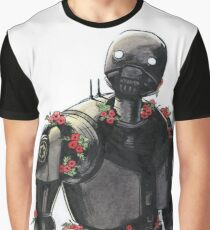 K2-S0 with mint leaves and poppies Graphic T-Shirt