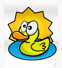 Silly Rubber Ducky Poster