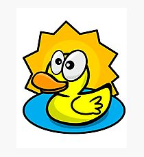 Silly Rubber Ducky Photographic Print