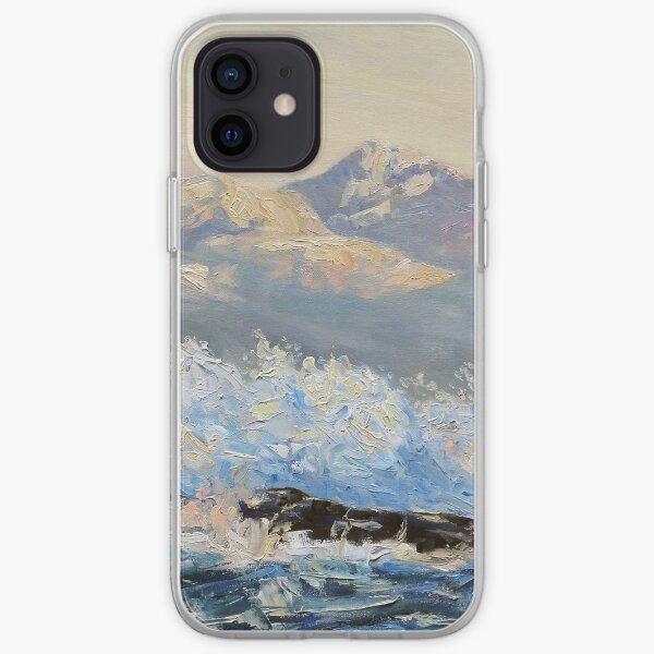 detail Northeasterly Morning Strait of Georgia Mayne Island BC iPhone Soft Case