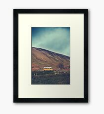 Vintage Volkswagen Camper Van Framed Print