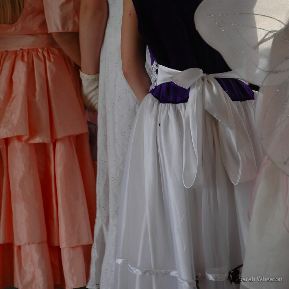 girls in fancy dress by Sarah Wheaton