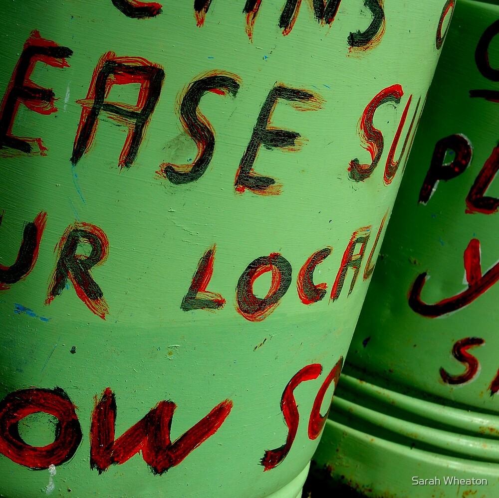show ground bin by Sarah Wheaton
