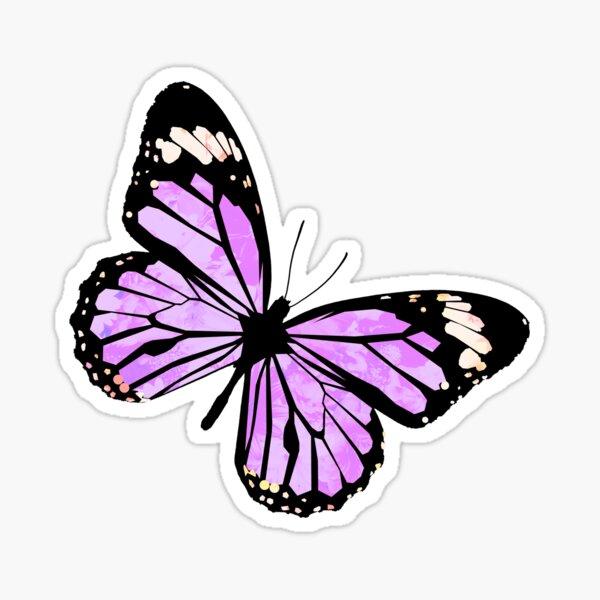 Purple Flutterby Sticker