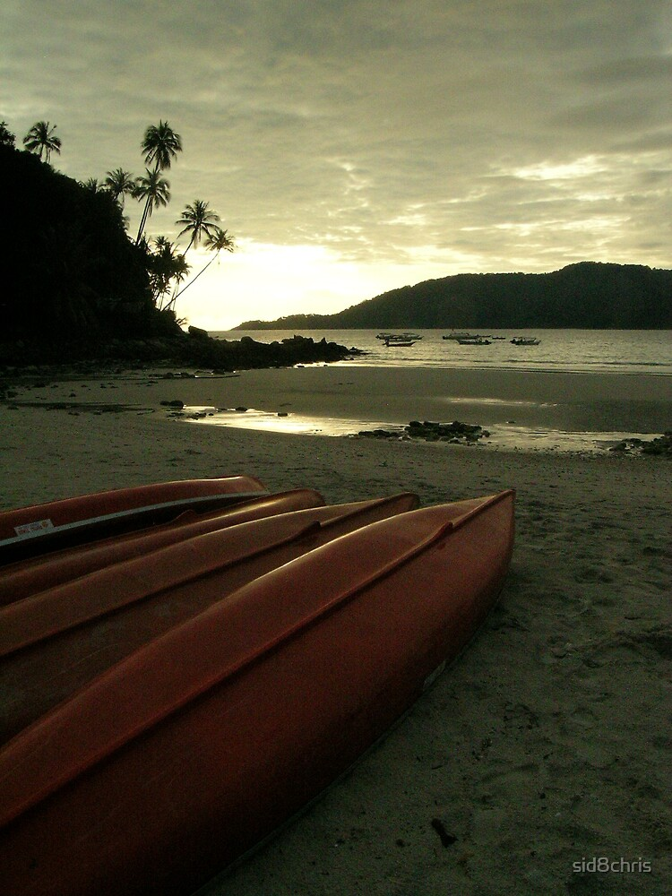 Let the kayaks bask in the rising sun.. by sid8chris