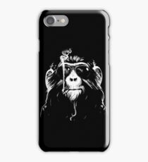 Smoking Monkey - Oldschool iPhone Case/Skin