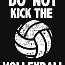 Do Not Kick The Volleyball Funny Sports Graphic Tee Shirt by DesIndie