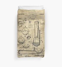 Ice Cream Scoop antique blueprint patent drawing 1939 kitchen art Duvet Cover