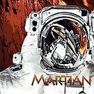 Martian Astronaut Space Art by Jim Plaxco
