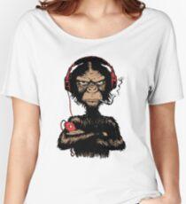Smoking Monkey - Walkman Women's Relaxed Fit T-Shirt