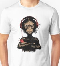 Smoking Monkey - Walkman Unisex T-Shirt