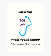 Chewton Toe Jam Preservers Group Art Print