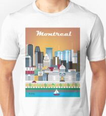 Montreal, Canada - Skyline Illustration by Loose Petals Unisex T-Shirt