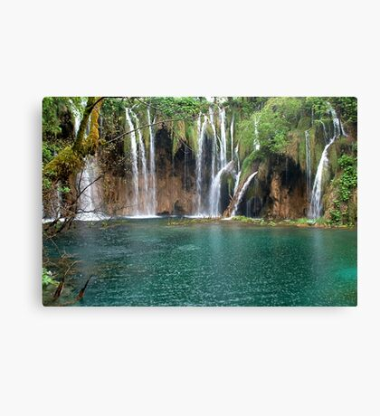 Waterfalls in Plitvice National Park Croatia Canvas Print