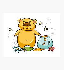 Bear and the Honey Photographic Print