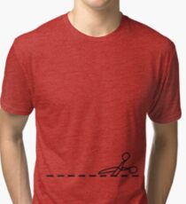 Cut Along The Dotted Line Tri-blend T-Shirt