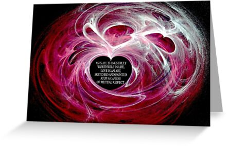 Love Is Respect (Horizontal Card) by C J Lewis
