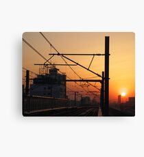 Sunset in China Canvas Print